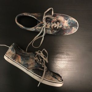 Vans galaxy printed sneakers shoes size 8.5